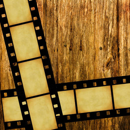 film stripes on wood Stock Photo - 3929382