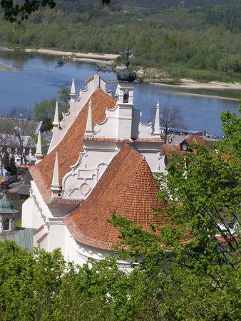 Parish church in Kazimierz Dolny in Poland