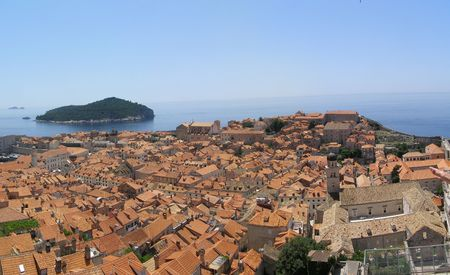 Dubrovnik from the city walls Stock Photo - 6593471