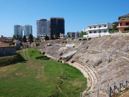 Roman theatre, Durres, Albania photo