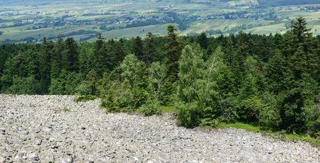 Screes in the Świętokrzyskie Mountains, Poland photo