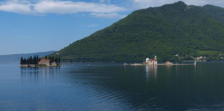 The Island of Our Lady of the Rocks and St. George Island, Perast, Montenegro photo
