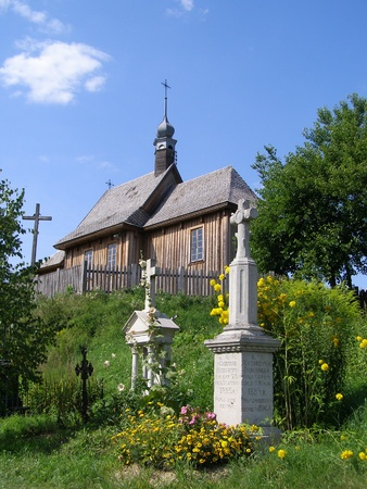 An old church and cemetery, Ethnographic Museum in Lublin, Poland