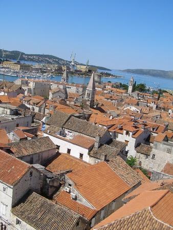 Panorama of Trogir, Croatia photo