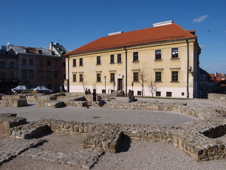 nonexistent: Foundations of a non-existent church of St Michael and the presbytery, Lublin, Poland