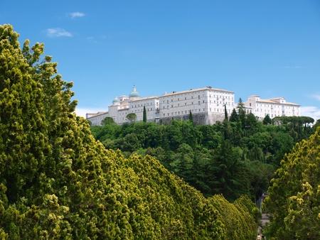 benedictine: Monasterio benedictino de Monte Cassino, Italia Foto de archivo