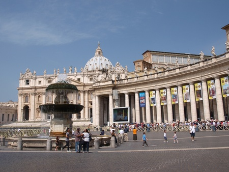 The Square of St. Peter and the Basillica, Vatican, Rome, Italy