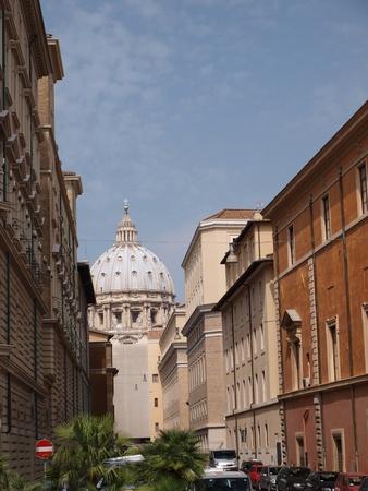basillica: The dome of the Basillica of St. Peter, Vatican, Rome, Ital