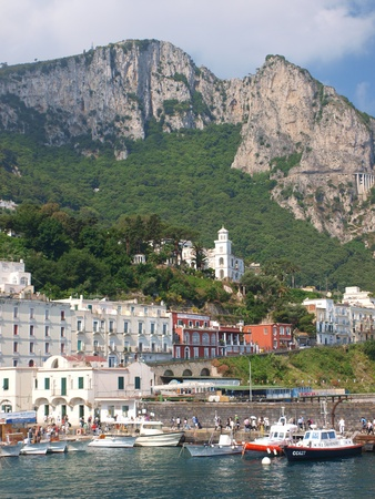 capri: Capri, Italy: boats in the port