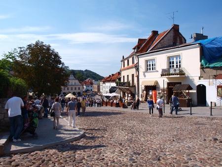 lubelszczyzna: 2011-09-18 Kazimierz Dolny, Poland: The street leading onto the market square.