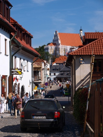 2011-09-18 Kazimierz Dolny, Poland: The street leading onto the market square. Stock Photo - 10592583