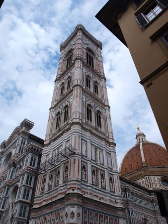 cattedrale: The Cathedral of Santa Maria del Fiore with Giotto Camapnile, Florence, Italy