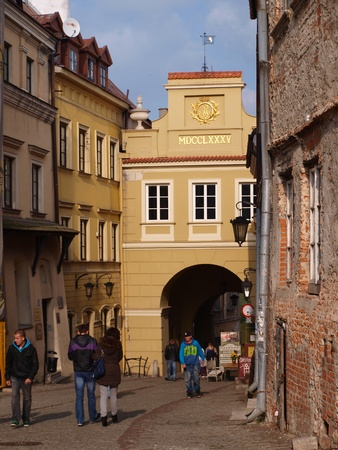 lubelszczyzna: Grodzka Gate in the old town of Lublin, Poland Editorial