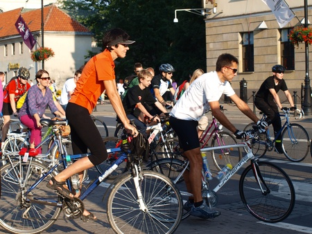 participants: Participants of the Critical Mass gathering for the event, Lublin, Poland, July 29th 2011