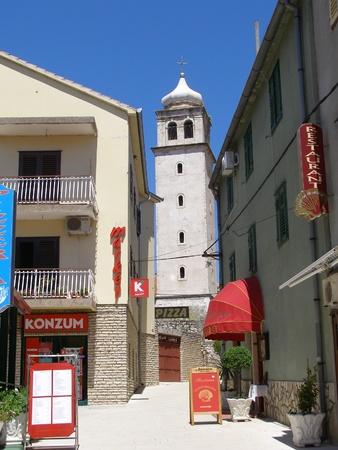 The bell tower of the Church of Mala Gospa, Skradin, Croatia