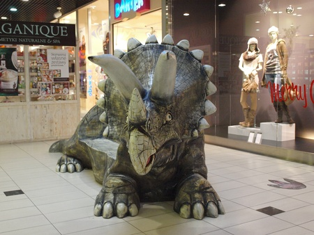 The exhibition Dinosaurs return in one of the shopping malls, Lublin, Poland Stock Photo - 11249534