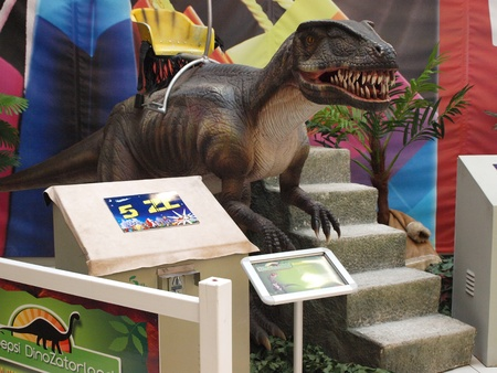 The exhibition Dinosaurs return in one of the shopping malls, Lublin, Poland Stock Photo - 11249536