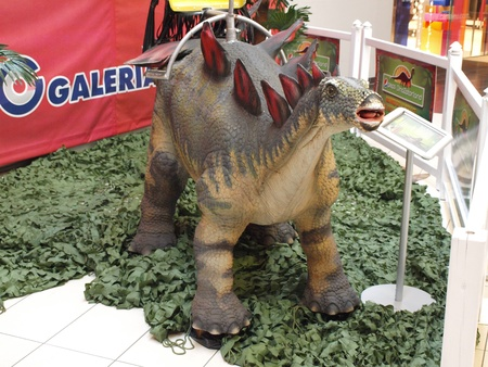 The exhibition Dinosaurs return in one of the shopping malls, Lublin, Poland Stock Photo - 11249537