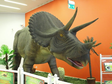 The exhibition Dinosaurs return in one of the shopping malls, Lublin, Poland Stock Photo - 11249533