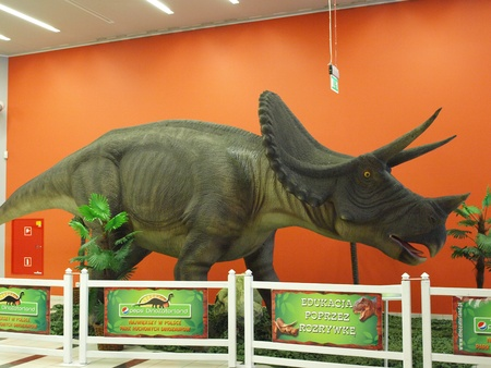 he exhibition Dinosaurs return in one of the shopping malls, Lublin, Poland Stock Photo - 11249535