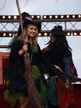 lubelszczyzna: Witches during the European Festival of Taste Lublin 2011 (9th-11th September 2011), Po Farze Square, Lublin, Poland, September 10th 2011