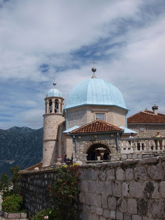 The sanctuary of Our Lady on the Rock, Perast, Montenegro photo