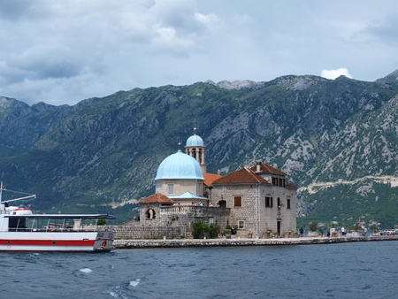 The sanctuary of Our Lady on the Rock, Perast, Montenegro