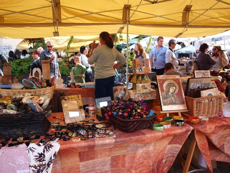 Open-air market in Kazimierz Dolny, Poland