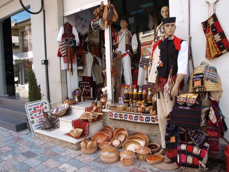 A Macedonian gift shop, Ohrid, Macedonia Editorial