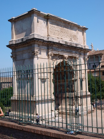 The Arch of Titus, Rome, Italy photo