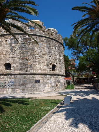 Venetian tower in the Albanian city of Duress, Albania