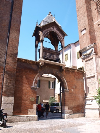 scala: One of the Arche Scaligere, monumental Gothic tombs of the Scaligeri family, who ruled Verona from 1277 to 1387.
