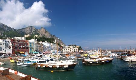 capri: The view of the port in Capri, Isle of Capri, Italy