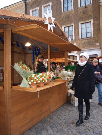 Christmas market in Lublin, Poland, December 18th 2011