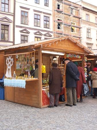lubelszczyzna: Christmas market in Lublin, Poland, December 18th 2011