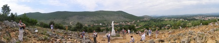 hercegovina: Crnica Hill in the village of Bijakovici (Međugorje parish), Bosnia and Hercegovina. The place of apparitions of Virgin Mary.