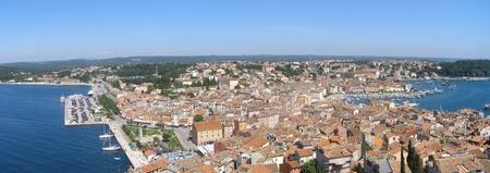 Panorama of Rovinj old town, Croatia