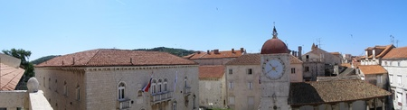 Panorama of Trogir in Croatia seen from the belltower of Cathedral of St. Lawrence. Stock Photo - 12059473