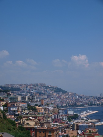 The cityscape of Naples, Italy