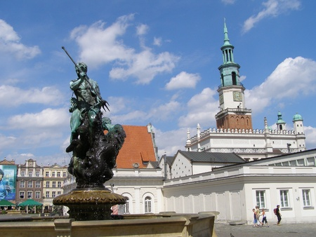 The old town of Poznan, Poland