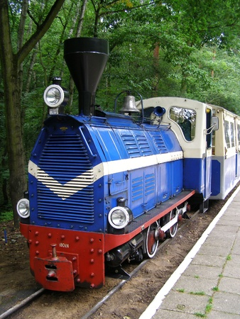 wielkopolskie: A train taking tourists to Malta Lake, Poznan Stock Photo