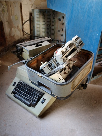 lubelszczyzna: Old typewriter Stock Photo