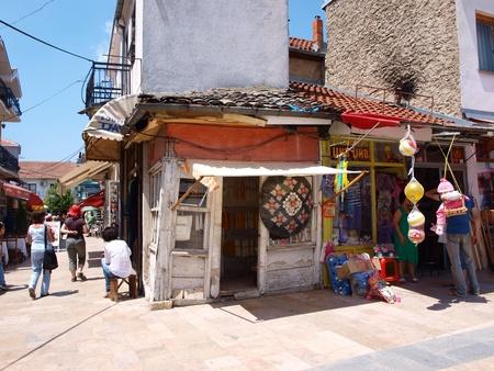A street in the old bazaar of Prilep, Macedonia