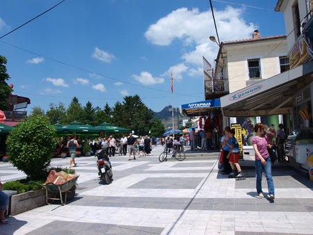 A street in the old bazaar of Prilep, Macedonia