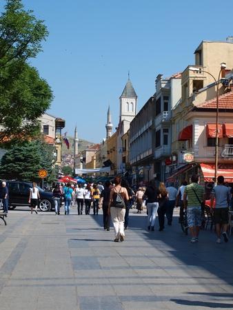 The so-called Wide Alley (mac. Sirok Sokak) in Bitola, Macedonia