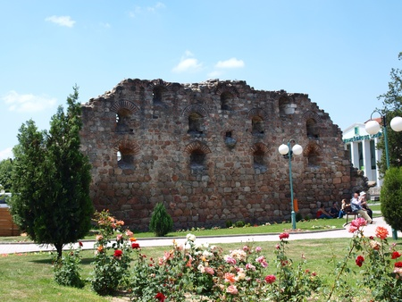 Remains of an old Turkish bath house, Prilep, Macedonia