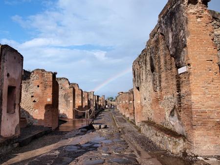 Streets of Pomepii, Italy