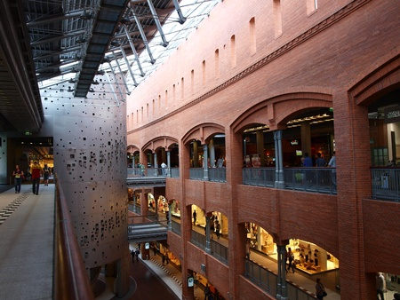 The former brewery transformed into a shopping center, Poznan, Poland