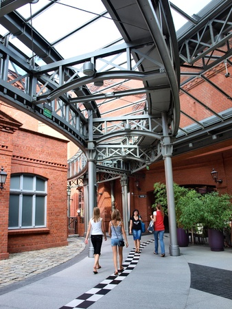 The former brewery transformed into a shopping center, Poznan, Poland Editorial