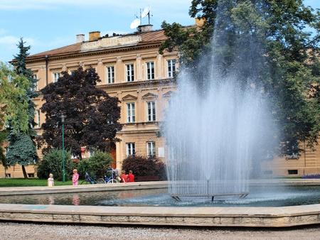lubelszczyzna: A fountain in Litewski Square, Lublin, Poland Editorial